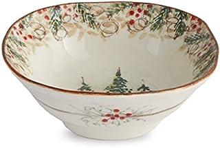 Arte Italica Natale Pasta/Cereal Bowl, Cream