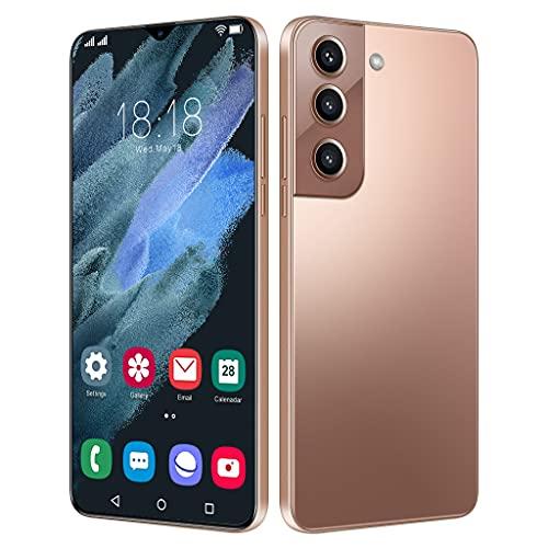 JNYB Smartphone Sim-Free Android 5G Desbloqueado Teléfono 6.7 '' Pantalla Waterdrop, Dual Sim + SD (3 Ranura), Face/Desbloqueo de Huellas Dactilares, Batería de 6800mAh,Marrón