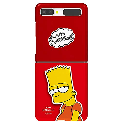 Hard Case with Simpsons Character for Samsung Galaxy Z Flip/Z Flip 5G (Bart Simpson)