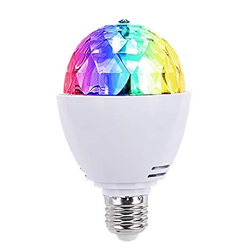 E27 3W LED RGB Lichteffekt Licht Lasereffekt Projektor Kristall Magic Ball Effect Licht Drehen Automatisch für Weihnachtsparty Disco Party Klub