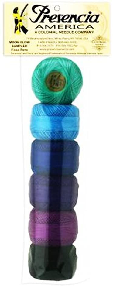 Presencia Pearl Cotton Thread Sampler - Sashiko, Embroidery & Quilting - Moon Glow- Size 8 - 6 Colors - 77 yard balls
