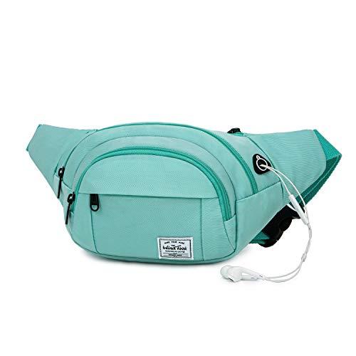 Wind Took Gürteltasche Bauchtasche Hüfttasche Brusttasche Handytasche Party mit Kopfhörer Port für Reise Wanderung Outdoor Running groß, Damen und Herren