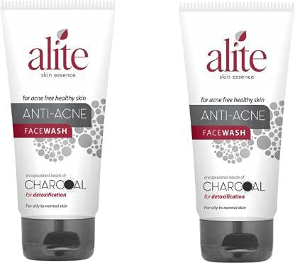 Alite Anti-Acne Facewash Combo Pack of 2 with Encapsulated Charcoal to Detoxifying Skin   Oily to normal skin   Unisex Facewash (70 Gm Each)