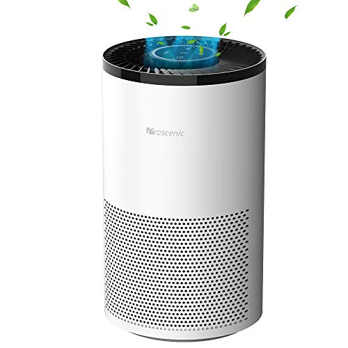 Proscenic A8 Luftreiniger Allergie, Air Purifier mit App Steuerung, Echter H13 HEPA-Kombifilter, 4 Reinigungsmodus, Leise Betrieb, gegen Allergie, Gerüche, Pollen, Luftreiniger für Raucher