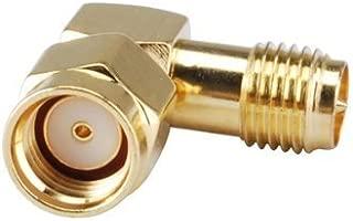 2pcs DHT Electronics RF coaxial coax adapter RP-SMA male to RP-SMA female right angle