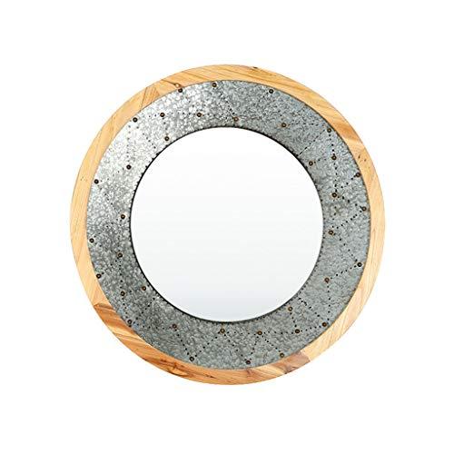 Woonkamer decoratieve wandspiegel wandspiegel smeedijzeren muur hangend open haard eetkamer kast spiegel rond hand wanddecoratie J4/8