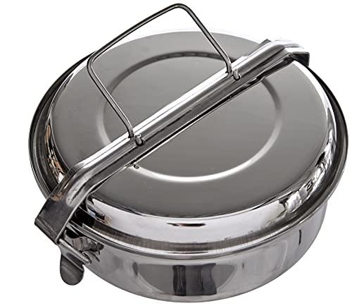 3. Ibili 720618 – Fiambrera de acero inoxidable con platos de 18 cm de diámetro