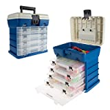 Wakeman - 80-FSH5036 Storage Tool Box-Durable Organizer Utility Box-4 Drawers, 19 Compartments Each for Camping Supplies and Fishing Tackle by Outdoors (Dark Blue)