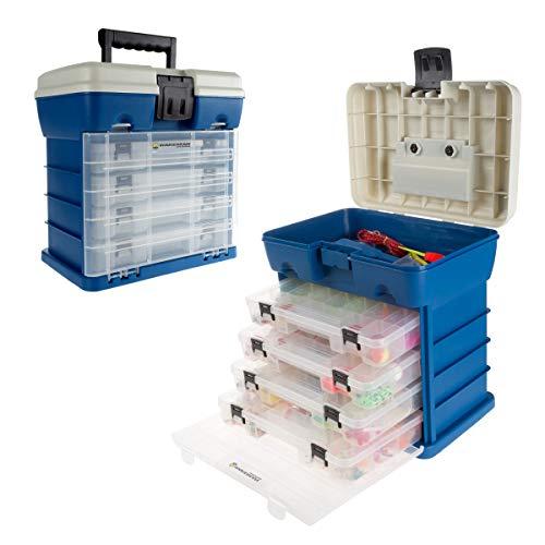 Wakeman - 80-FSH5036 Storage Tool Box-Durable Organizer Utility Box-4 Drawers, 19 Compartments Each...