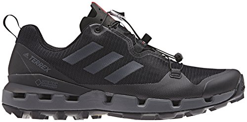 adidas outdoor Terrex Fast GTX-Surround Mens Hiking Boot Black/Grey Five/Hi-Res Red, Size 10.5