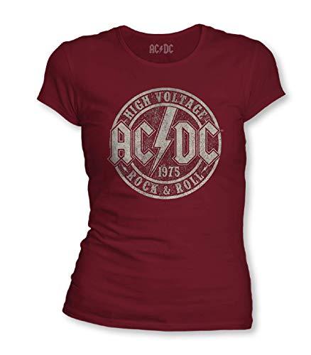cotton division WOACDCRTS040 Camiseta, Granate, XL para Mujer