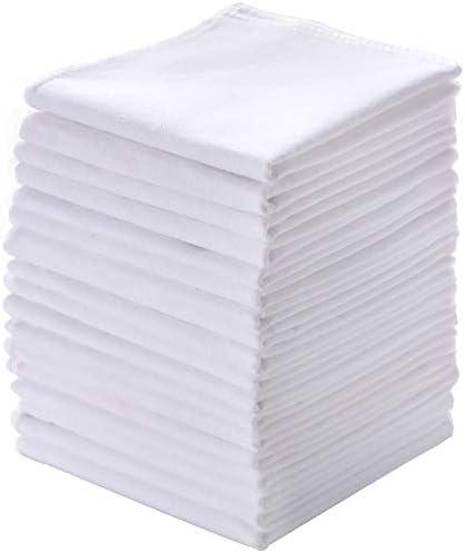 Men s Handkerchiefs 18 Pack 100 Pure Cotton Solid White Hankie product image