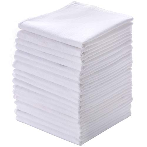 100/% Pure Cotton Handkerchiefs with Stiching Assorted Color 5 Pieces 5 Colors