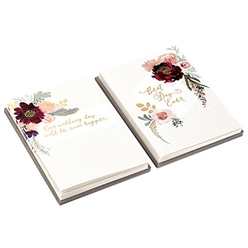 Hallmark Bridesmaid Proposal and Wedding Party Thank You Card Set (20 Cards with Envelopes, Floral)