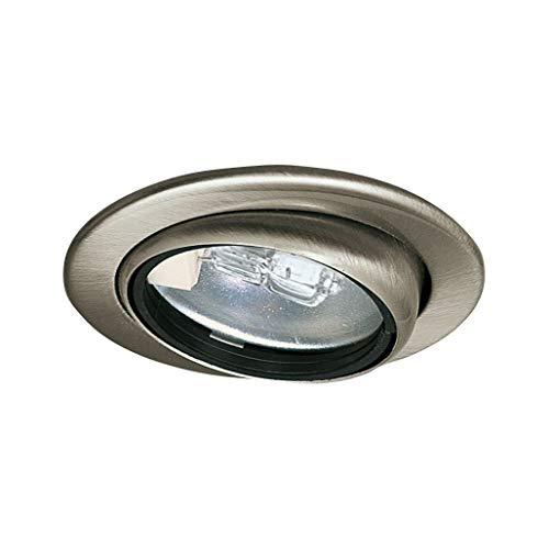 Paulmann 98474 Micro Line schwenkbar Einbaustrahler flach Einbauspot max. 1x20W Einbaulampe 12V G4 Metall Spot Eisen gebürstet Möbeleinbauleuchte, Silber