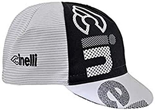 Cinelli Unisex optische Kappe, weiß/schwarz, Einheitsgröße