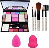 Angelie Makeup Kit and Makeup Brush, 5 Pieces with Blender Puff, 2 Pieces