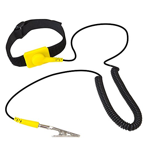 KingWin ATS-W24YKingwin Anti Static Wrist Strap Yellow, Adjustable ESD Wrist Band Fits Your Wrist Comfortably. Grounding Bracelet to Protect Your PC Computer or Electronics from Static Electricity