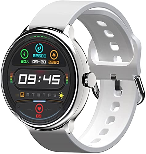 Relojes Inteligentes para Hombres, Relojes con Monitor de sueño, 1.28 'Pantalla táctil Completa, pedómetro Impermeable IP67, Reloj Inteligente para teléfonos Android y teléfonos iOS