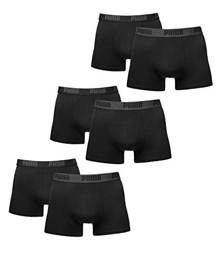 6 er Pack Puma Boxer shorts / schwarz / Size M / Herren Unterhose Unterwäsche