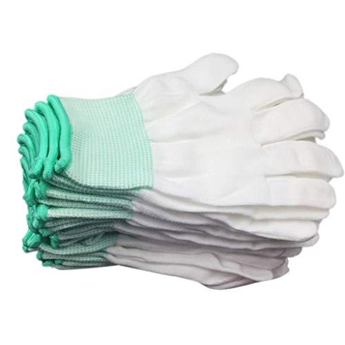 OWENRYIN 10 pares de guantes de trabajo antiestáticos de seguridad ESD de malla transpirable completa para los dedos (excelente agarre)