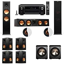Dolby Atmos 7.2.2 Klipsch RP-280F Tower Speakers PL-200 withDenon AVR-X4200W