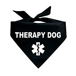 Tees & Tails Therapy Dog Triangle Dog Bandana (Assorted Colors)