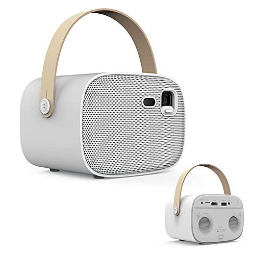 Gaone Mini Proyector Portable, Video 1080P Ayuda del Proyector De 4000 Lúmenes Y 200 'Pantalla' con 30.000 Horas De Vida Útil, Compatible W/Smartphone, TV Stick, PS4, HDMI, VGA, TF, AV Y USB, Xbox