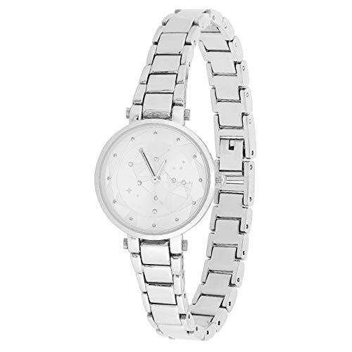 Jingyig Reloj Femenino, práctico y Duradero Reloj de Cuarzo de Moda, para mamá o para ti, Amigos(Silver)