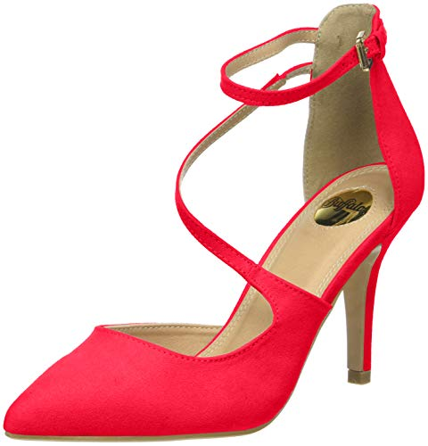 Buffalo Shoes Damen 315349 Riemchensandalen, Rot (Red 000), 39 EU