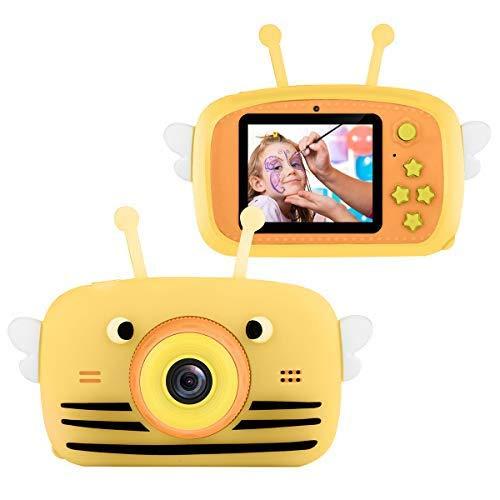 Nicoone Camera Children Digital Portable Mini 2 Screen Camera 20Mp Cámara de Video de Doble Lente Dv Camcorder with 32G Memory Card