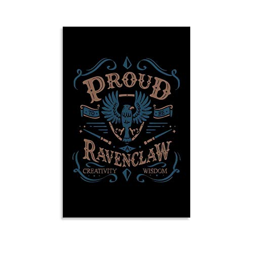 one1love Harry Potter Ravenclaw Wall Art Decor Canvas Prints Harry Potter Poster for Living Room Bedroom Decor 08x12inch(20x30cm), No-Framed