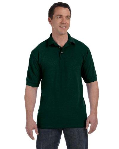 Hanes Hommes Comfortblend Ecosmart Jersey Polo - Petit Grenat - Vert - XXL