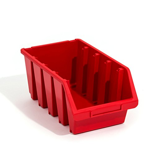 Lot de 10 boites de rangement bacs a bec en rouge ERGO-Box taille 4