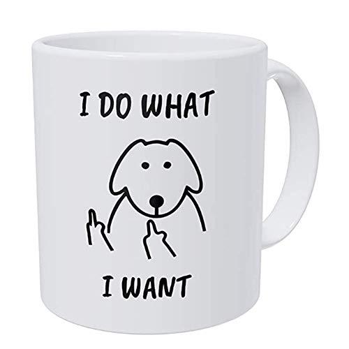 Flipping Finger Dog I Do What I Want 11 Ounces Funny Coffee Mug