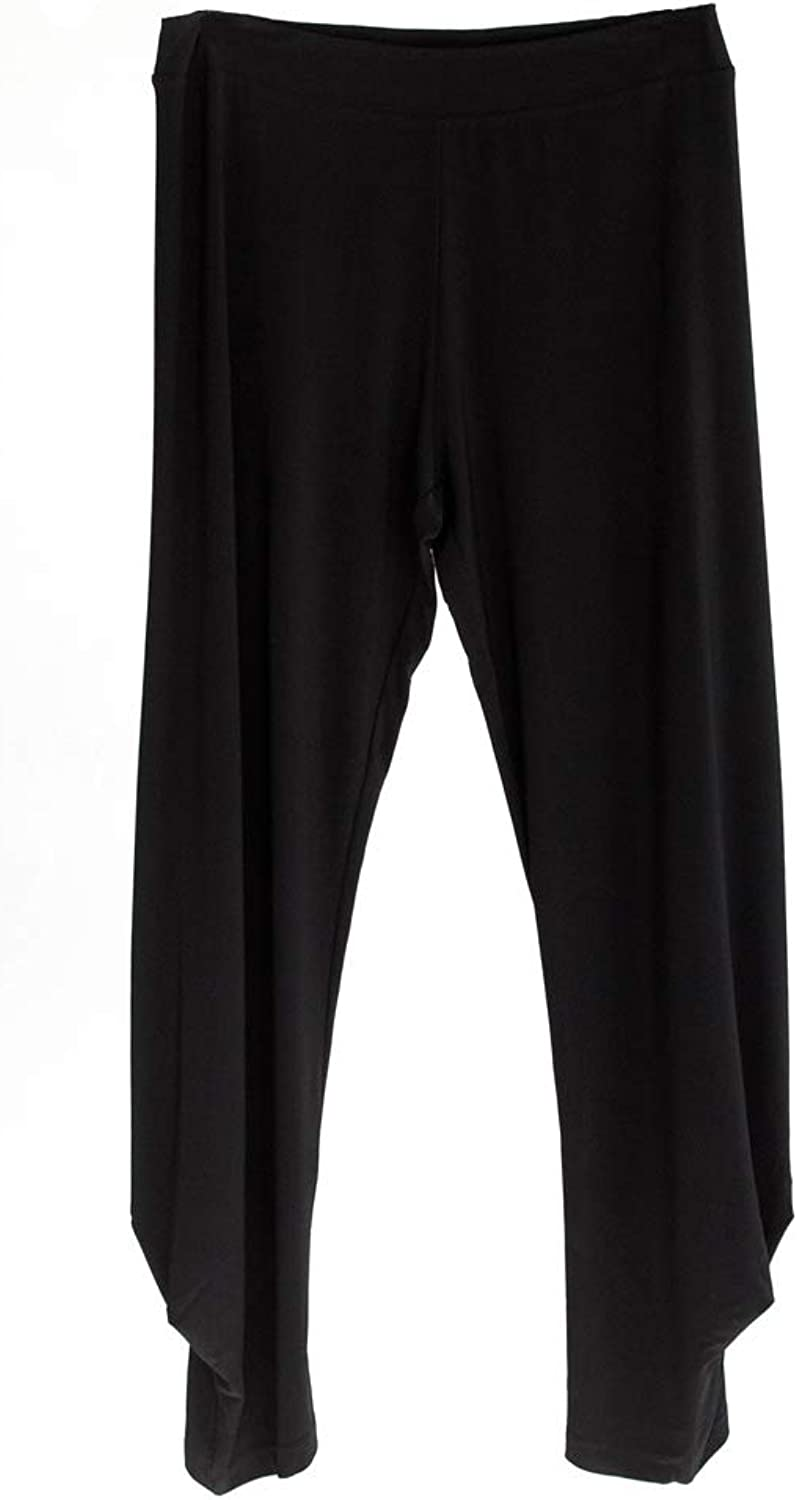 Lounge The Label Pant Cape  Comfortable Ankle Length Pull On Pants, Black