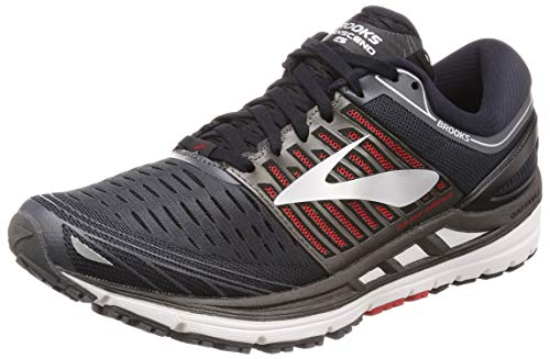 Brooks Men's Transcend 5 Road Running Shoes Ebony/Black/Red - 13D