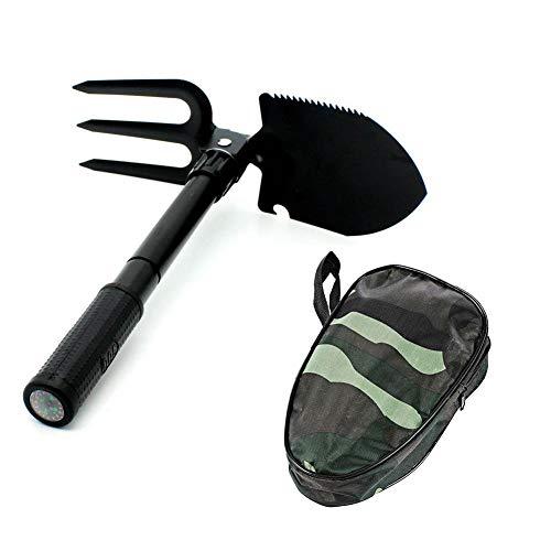 Exuberanter Multifunktionaler 3 In 1 Mini Schaufel/Hacke/Säge Mit Tasche Oliv, Klappspaten Mit Kompass, Ideal Für Outdoor, Camping, Survival Und Jagd
