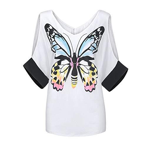 Derrick Aled(k) zhuke Off-The-Shoulder-Schmetterlingsblume mit 3/4-Ärmeln und Damenhemd im Frühling und Sommer