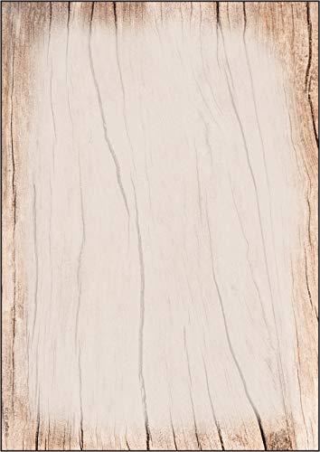 SIGEL DP128 Struktur-Papier, Briefpapier im Holzdesign, 90 g, A4, 50 Blatt - weitere Motive