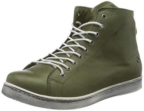 Andrea Conti Damen 0341500 Hohe Sneaker, Grün (Oliv 042), 40 EU