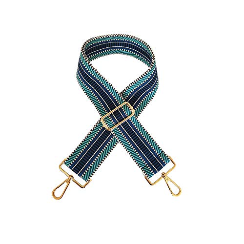Umily Wide Shoulder Strap Adjustable Replacement Belt Guitar Style Cross body Handbag Purse Strap, Blue, Medium