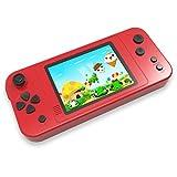 ZHISHAN Tragbare Handheld Spielekonsole für Kinder Erwachsener mit Eingebauten 218 Klassisches Retro Videospiele 3.5' LCD HD Bildschirm Arcade Erholung System Geburtstagsgeschenk (Rot)