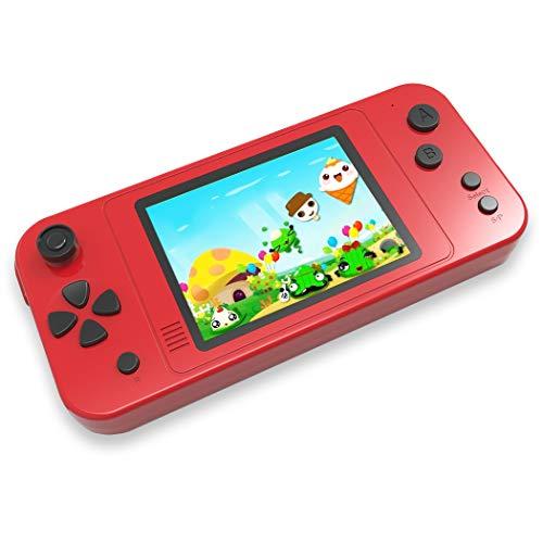 """ZHISHAN Tragbare Handheld Spielekonsole für Kinder Erwachsener mit Eingebauten 218 Klassisches Retro Videospiele 3.5"""" LCD HD Bildschirm Arcade Erholung System Geburtstagsgeschenk (Rot)"""