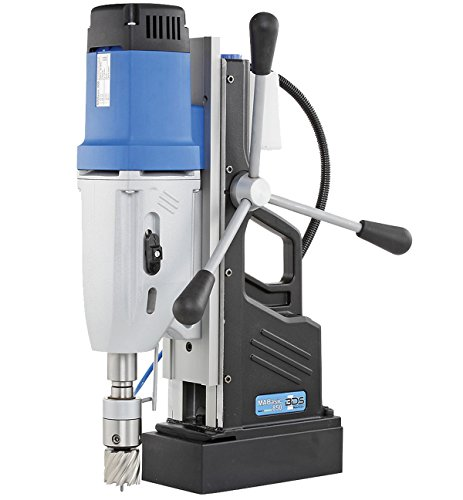 "CS Unitec MABasic 850 Portable Magnetic Drill Press: 4-Speed, MT3, Drills up to 3-1/16"" Diameter, up to 10"" Depth of Cut, 1800W, Best Power to Weight Ratio, Electronic Safety Shutoff"