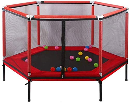 N/Z Daily Equipment Indoor and outdoor children's trampoline with safety net 157 and timetables