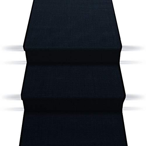 casa pura Sisal Treppenteppich Treppenläufer | viele Größen | natürlicher Läufer für den durchlaufenden Treppenbelag | Qualitätsprodukt aus Deutschland (schwarz 67x150 cm)
