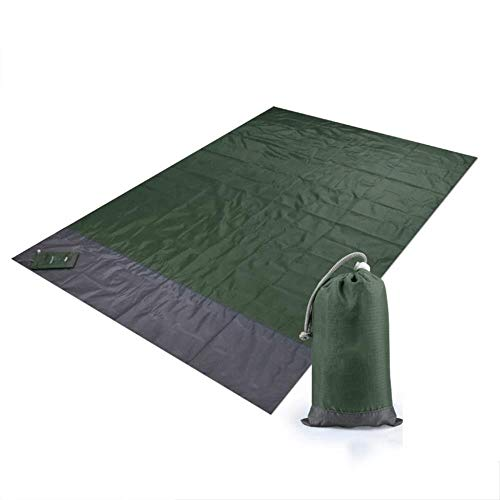 GLLP Picnic Mat Beach Estera de la Tienda Mat Plegable de Picnic Manta Ligera Impermeable 200 * 210cm (Color : Green)