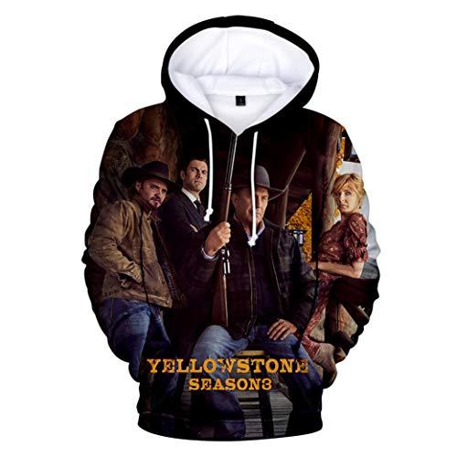Greatbe Yellowstone Season3 Felpa con cappuccio per uomo/donna/gioventù Cl01 XXL