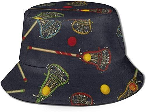 Trushop Sombrero Unisex Cierre de Cremallera de Lacrosse Sombrero de Pescador de Sol Sombrero de Exterior Sombrero de protección Solar UV Sombrero de Viaje Transpirable Ligero y Plegable Negro